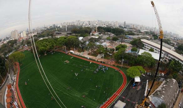 Centro esportivo e cultural Tiete - Visão aérea
